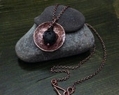 Copper Hand-forged Lava Stone Essential Diffuser Necklace