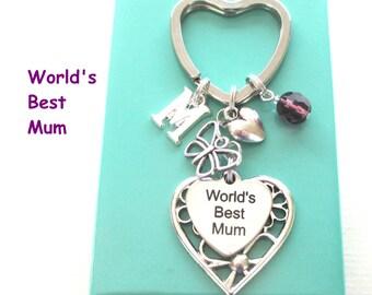 World's Best Mum keyring - Gift for Mum - Butterfly keyring - Personalised Mother's Day gift - Mum gift - Birthstone keyring - Etsy UK