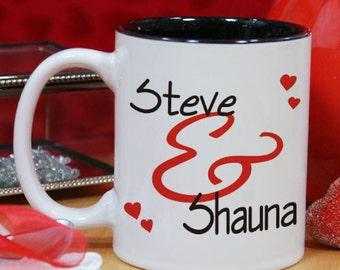 Personalized Couple's Romantic Mug