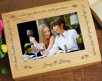 Personalized Who You Have Beside You Photo Keepsake Box