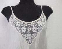 White Silk Nightgown 1980's Nightgown  Ivory Nightgown Judith Hart