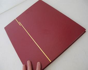 Mid Century Scrapbook Guestbook Album Faux Leather Scrapbook Photo Album