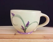 large pottery coffee cup ...