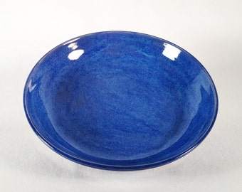 hand-made pottery, ceramics, wheelthrown pottery, ceremonial pottery, plate, paten, blue glaze, gloss, table-ware, dinner-ware, dishes