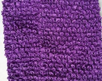 """PURPLE 10"""" X 9""""crochet tutu top  - tutu dress supply,tutu top,stretchy tutu dress top"""