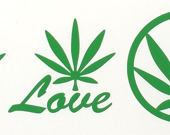 Weed Sticker. 420, LOVE Cannabis Sticker selection