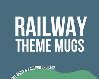 Railway Train Mugs