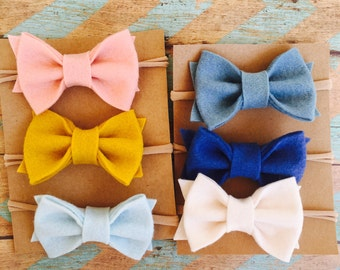 Beautiful set of felt bows
