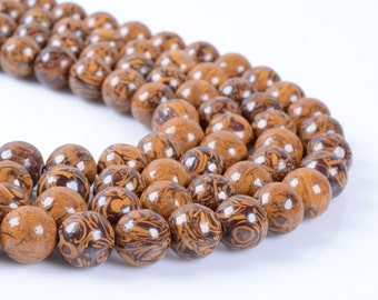 8MM79 Tiger skin jasper round ball loose gemstone beads 16""