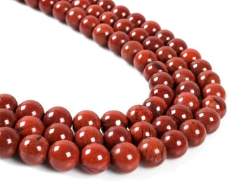"8MM82 Red flame jasper round ball loose gemstone beads 16"""