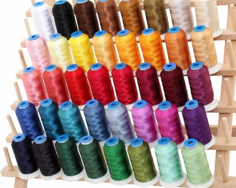 Rayon Machine Embroidery Thread Set A - Big 1000m Cones - 40 Colors - 40wt