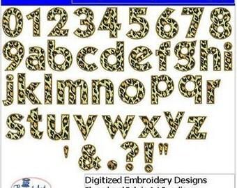 Embroidery Design CD - Leopard Alphabet(1) - 42 Designs - 9 Formats - Threadart