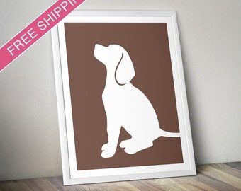 Beagle Print (version 3) -  Beagle Silhouette