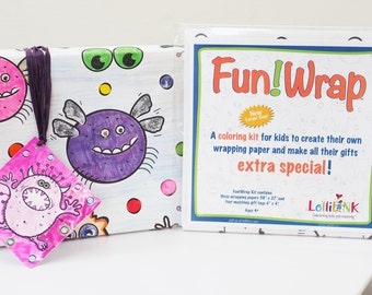 Monsters Fun!Wrap Wrapping Paper Kit