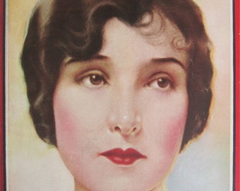 Original February 1925 Florence Vidor Photoplay Magazine Cover By Hal Phyfe - Hollywood's Golden Age - Free Shipping