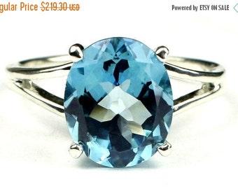 Summer Sale, 30% Off, SR132, Swiss Blue Topaz, 925 Sterling Silver Ring