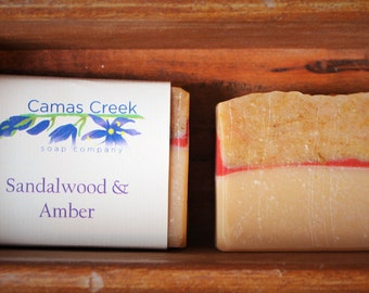 Sandalwood & Amber Handcrafted Soap