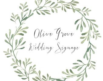 Olive Grove Wedding Signage