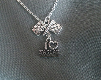 Love Nascar Racing Lariat Necklace