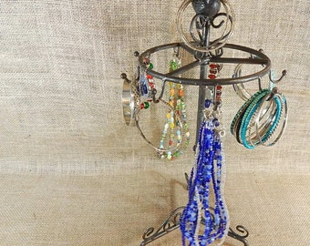 Rustic Jewelry Display Organizer Display Stand Rack