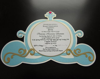 Princess Carriage Invitation
