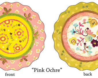 25 Pink Ochre Paper Placemats by Kimberly Hodges