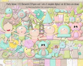 50%off Pretty Babies Digital Scrapbook Kit - Digital Scrapbooking