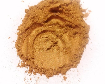 RUSTIC GOLD Mineral Eye Shadow - Natural Mineral Makeup - Gluten Free Vegan Face Color
