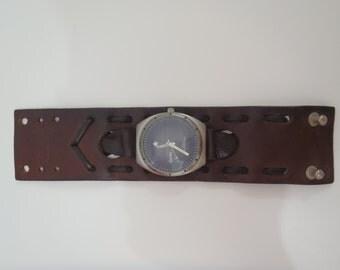 Johnny Depp Leather Cuff Watch