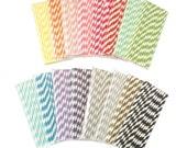 25 x Striped Paper Drinking Straws Wedding Birthday Party Supplies, FREE POSTAGE Australia Wide