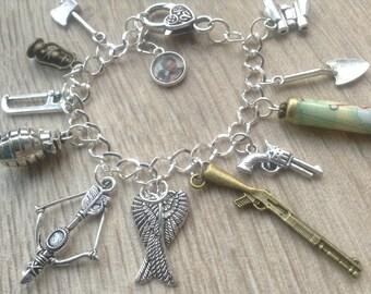 Zombie Charm Bracelet, Walking Dead Bracelet