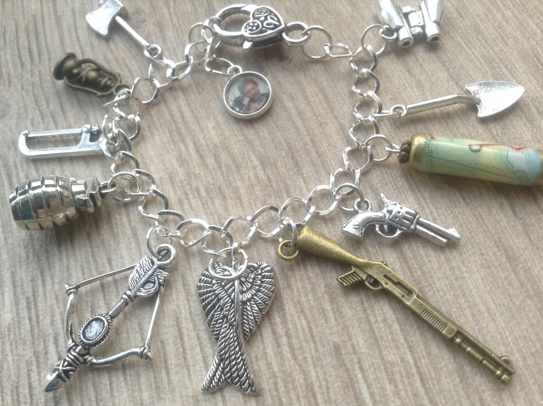 zombie charm bracelet walking dead bracelet