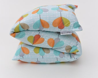 Gift for her Grain heat bag WASHABLE cover microwaveable Barley Filled like a rice bag 4 pain relief, aches. Petals Pinwheels~ by UptonElm