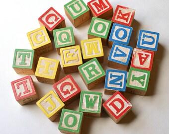 Set of 24 Wood Blocks Toy Block Set