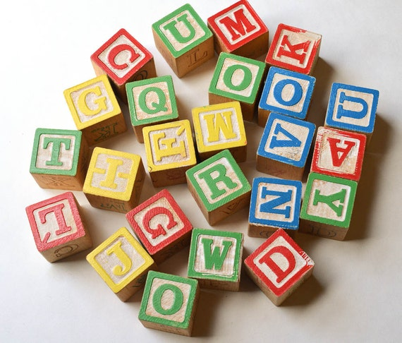 24 Wood Blocks Toy Block Set