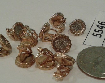 Vintage earring findings 5546 New Old Stock