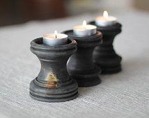 Set of 3 Candle Holder, Wedding,rustic decoration, shabby, Candle Holder Centerpiece, home decoration HB-014B