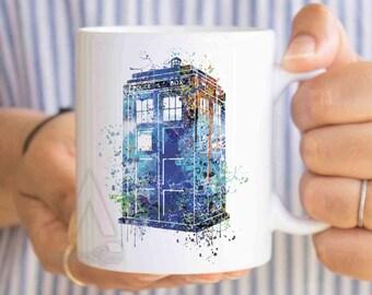 dorm decor, dorm room,tardis mug, doctor who mug, dr who mug, tardis coffee mug, dr who coffee mug, tardis gifts, tardis cup, police box mug