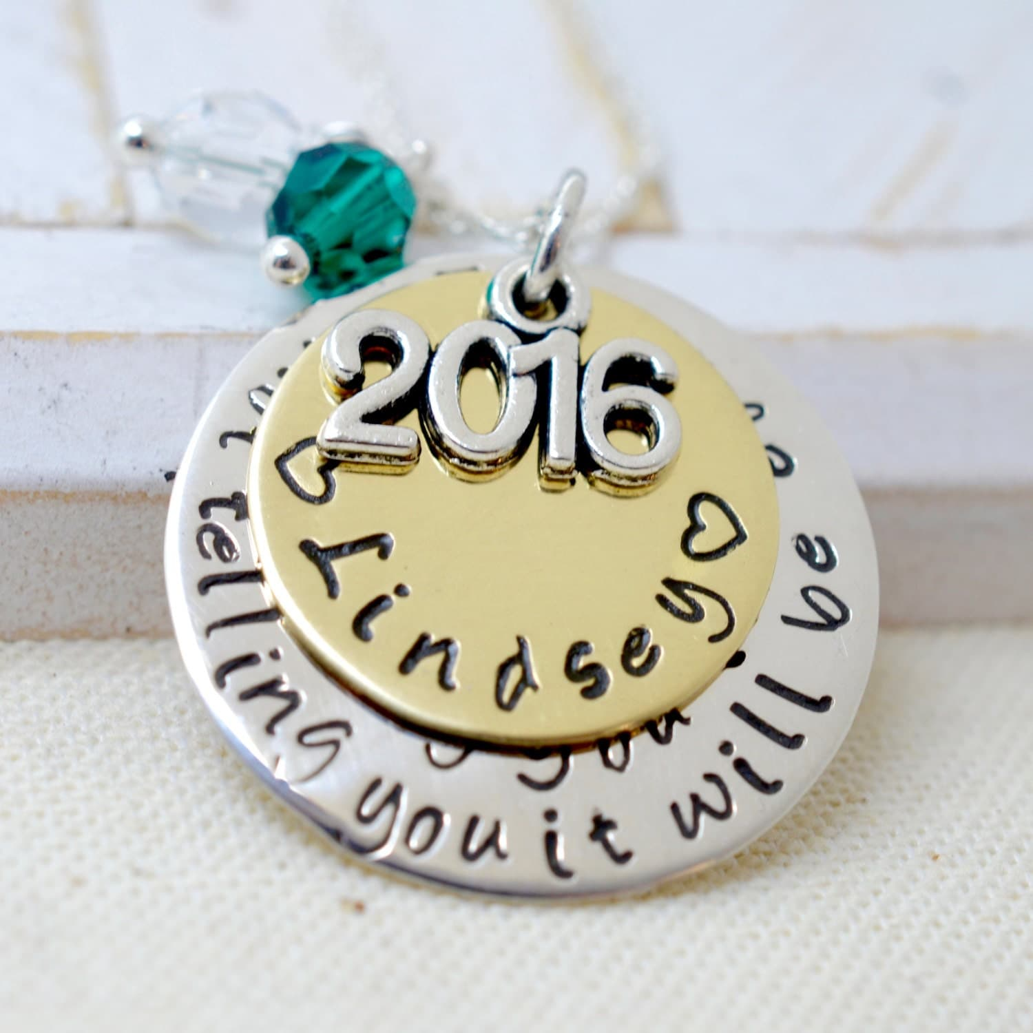 graduation necklace 2016 personalized graduation gift high. Black Bedroom Furniture Sets. Home Design Ideas