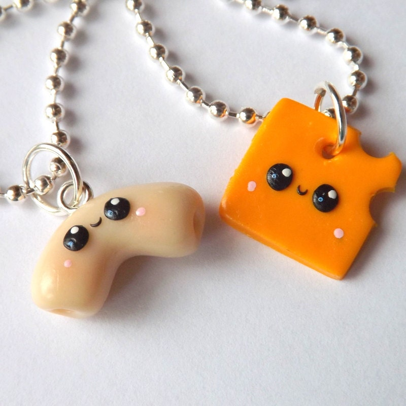 Mac and Cheese Best Friends Necklaces Best Friends Jewelry