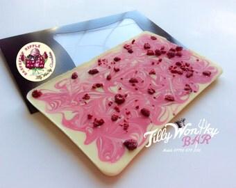 RASPBERRY RIPPLE 500g Chocolate Slab