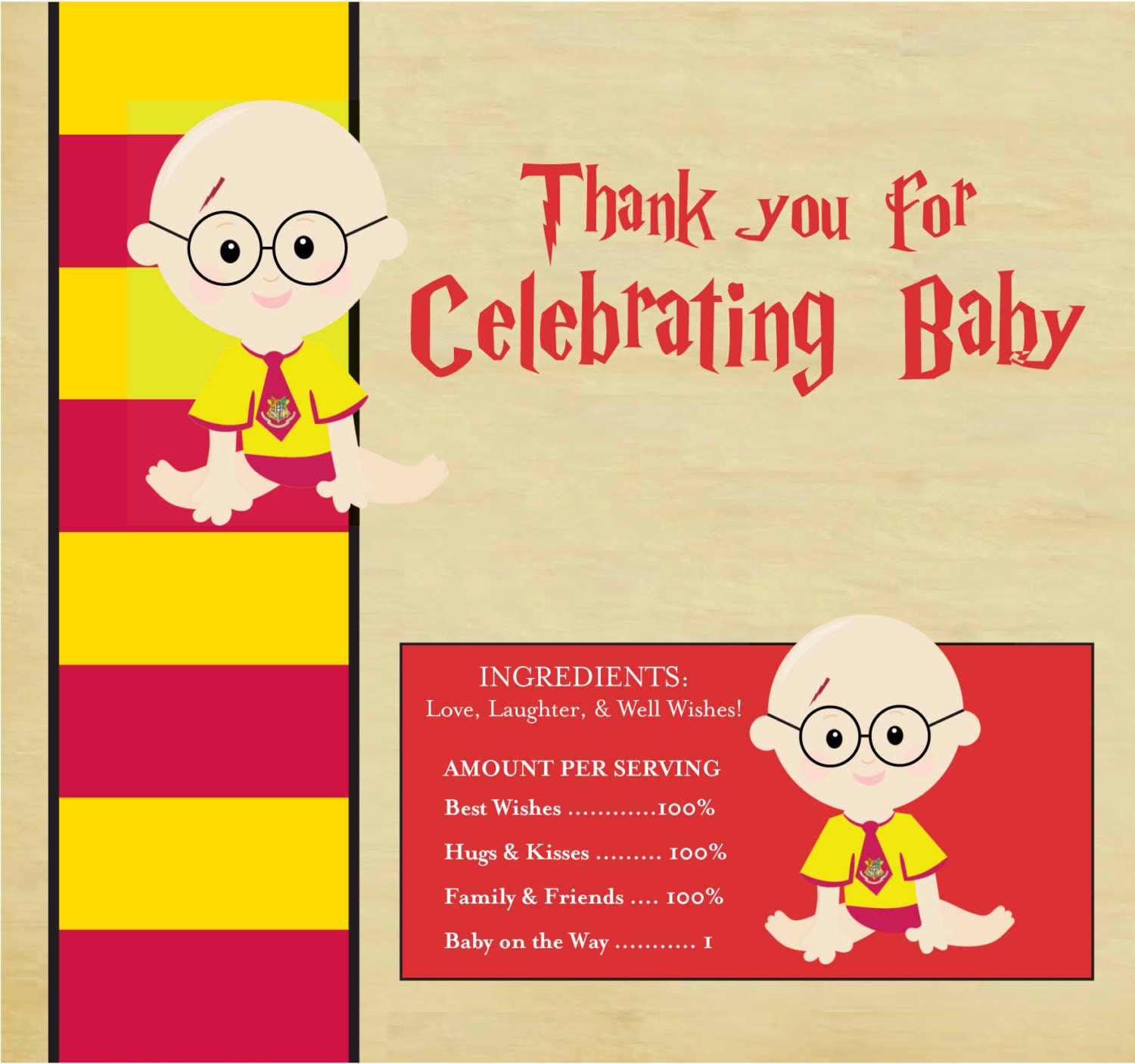 harry potter baby shower candy bar wrappers harry potter