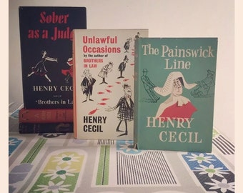 Reduced* 5 Hardback Novels by Henry Cecil circa 1950's to early 1960's