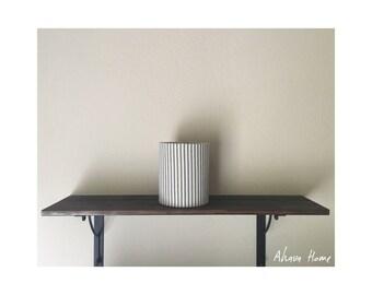 Vintage Denim Striped Mini Shade