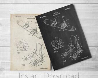 Snowboard Printables, Snowboard Art, Snowboarding, Snowboard Decor, PP0246
