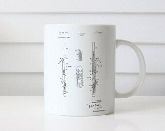 Bassoon Patent Mug, Musician Gift, Music Room Decor, Music Teacher Gift, PP0392
