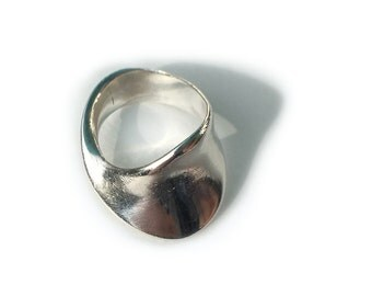 Georg Jensen Ring Sterling Silver Mobius Ring Torun Size 5 Vintage