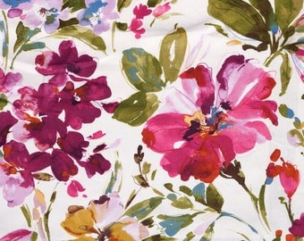 SHIPS SAME DAY Paint Palette Punch Home Decor Fabric, Orchid Floral Drapery Fabric, Paint Palette Punch Fabric By P Kaufmann By the 1/2 Yard