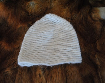 Naalbinded hat (Viking knitting)