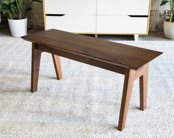 Modern Bench, Walnut Bench, Dining Table Bench, Wooden Bench, Entryway Bench ,
